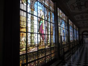 Stained Glass wall, The Castle, Mexico City