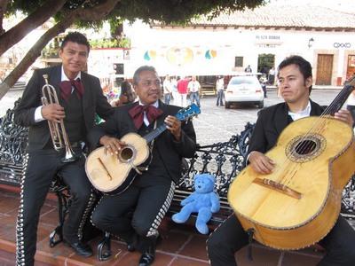 Blue Bear & Mariachi, Taxco, Mexico