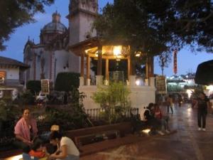 Zocolo at night, Taxco, Mexico