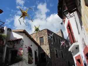 Pinatas overhead- Taxco, Mexico
