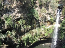 Pool below waterfall, Salto de San Anton