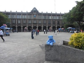 Zocolo facing municipal building, Cuernavaca, Mexico