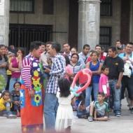 Clown performance, Zocolo, Cuernavaca, Mexico