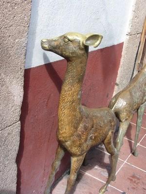 Brass deer, Taxco, Mexico