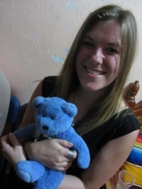 Blue Bear with Sarah
