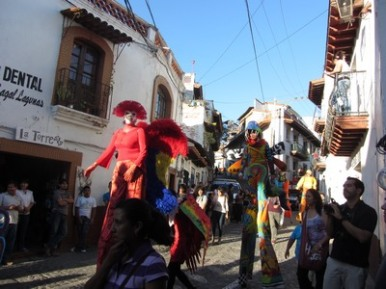 Stilt Walkers - Fat Tuesday, Taxco, Mexico
