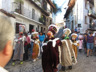 Three kings parade participants, , Taxco de Alarcon, Mexico