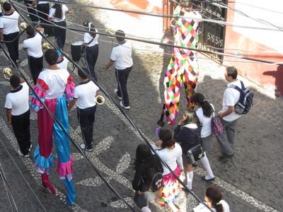 Band marching, Taxco de Alarcon, Mexico