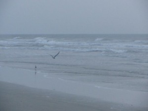 Stormy surf at sunrise, Cocoa Beach, Florida