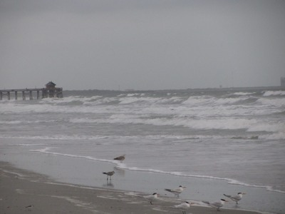 Cocoa Beach, stormy surf