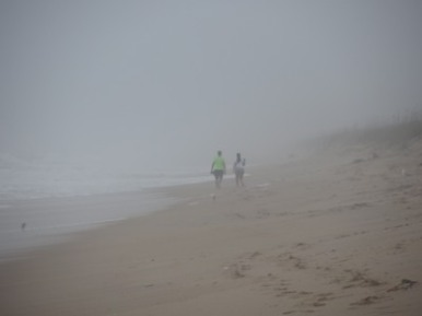 Misty walk, Canaveral National Seashore