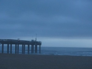 Cloud bank, St. Augustine Beach pier, Florida