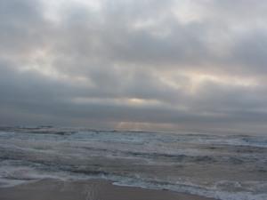 Stormy sunrise, St. Augustine Beach, Florida