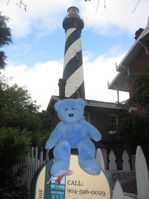Blue bear at St Augustine lighthouse