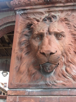 Lion head facade, St. Augustine, Florida