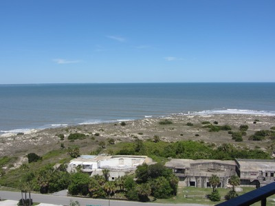 Fort Screven battery from top of Tybee Island lighthouse