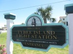 Tybee Island Lighthouse station sign
