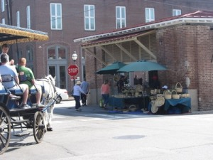 Basket vendor, Olde Market, Charleston, South Carolina