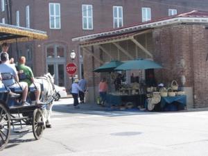 Basket vendor, Olde Market, Charleston, South Carolina