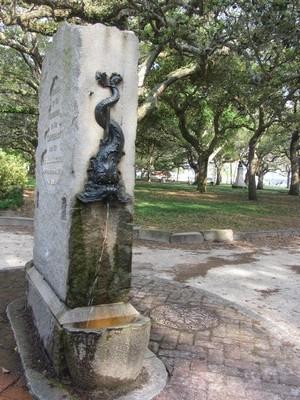 Fountain, White Point Gardens, Charleston, South Carolina
