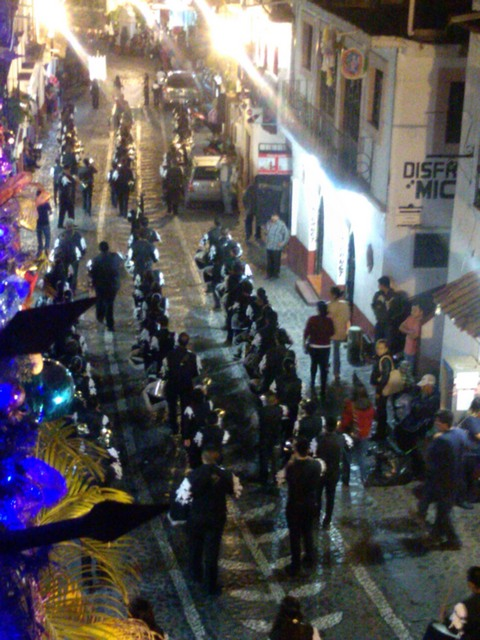 Band in the street, Festival of OUr Lady Guadalupe, Taxco, Mexico