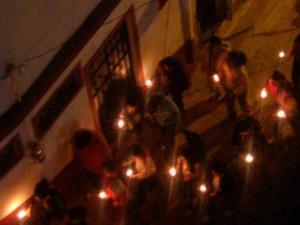 Las Posadas procession, Taxco, Mexico