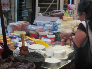 Cheese stall at the mercado, Chilpancingo, Mexico