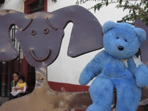 Blue Bear & Friend, Taxco, Mexico