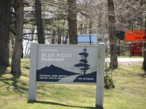 Blue Ridge Parkway sign