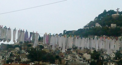 Socks on the line, Taxco de Alarcon, Mexico
