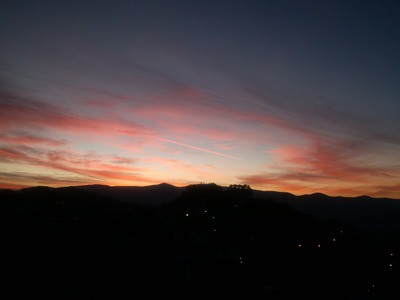 Sunrise over Taxco de Alarcon, Mexico