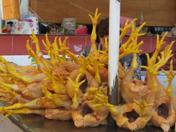 Chicken foot sculpture, market, Chilpancingo, Mexico