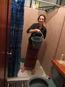 Ready to take a bucket shower, Mexico