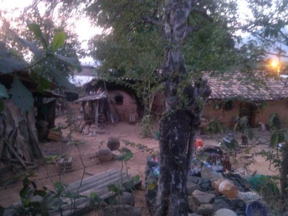 Old adobe house compound, Ocotito, Mexico