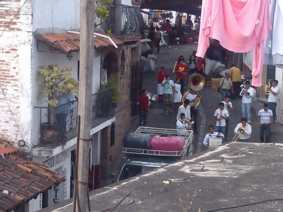 Street band observing Lent, Taxco de Alaracon, Mexico