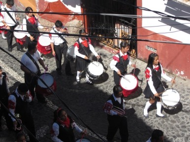 Flag Day celebration, Taxco de Alarcon, Mexico