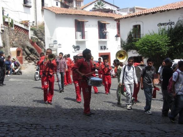 Street band, Taxco de Alarcon, Mexico
