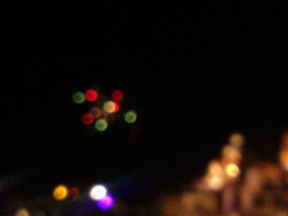 Fireworks over Taxco de Alarcon, Mexico