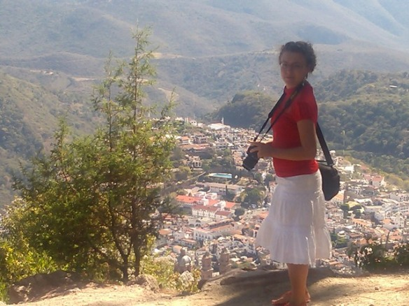 Matylda overlooking Taxco de Alarcon, Mexico
