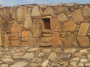 The ball goes here, Tehuacalco archeological site, Mexico