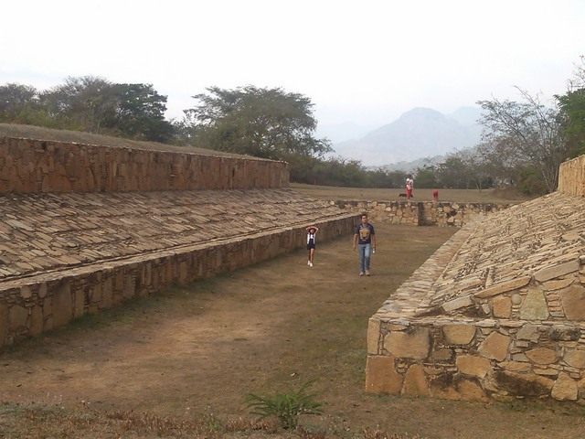 Ball court, Tehuacalco archeological site, Mexico