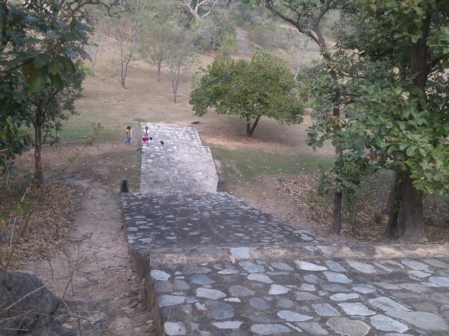 Stairway to the gods, Tehuacalco archeological site, Mexico