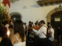 Violinist, Lenten procession, Taxco de Alarcon, Mexico
