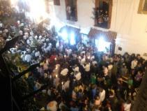 Lenten procession crowds, Taxco de Alarcon, Mexico