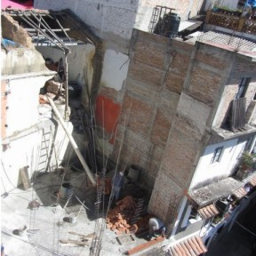 Construction site, future Hotel de Mineral de la Taxco, rear view, Taxco de Alarcon, Mexico