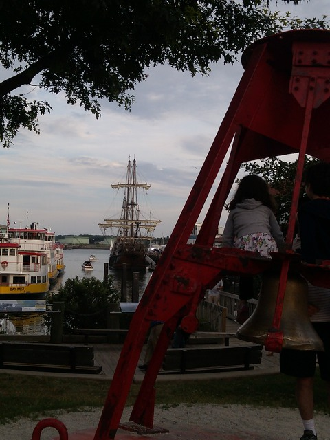 Tall ships in port, Portland harbor (Maine)