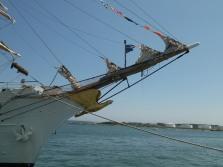 Masthead USS barque Eagle, Tall Ships festival, Portland,Maine