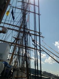 Masts,USS barque Eagle, Tall Ships festival, Portland,Maine