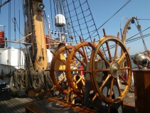 Triple helm, USS barque Eagle, Tall Ships festival, Portland,Maine