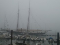Schooner, Foggy Day, Portland, Maine